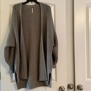 Free people chunky knit cardigan xs